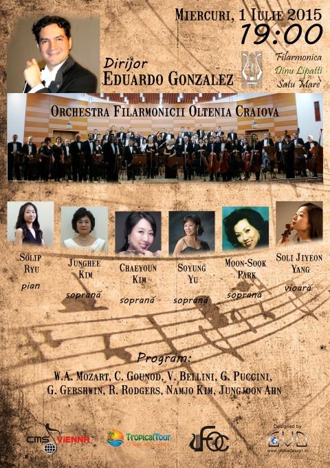 """Orchestra Filarmonicii """"OLTENIA"""" din CRAIOVA, în concert la SATU MARE"""