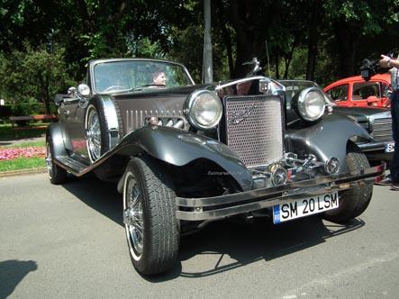 Parada mașinilor retro în centrul Sătmarului (Galerie foto)