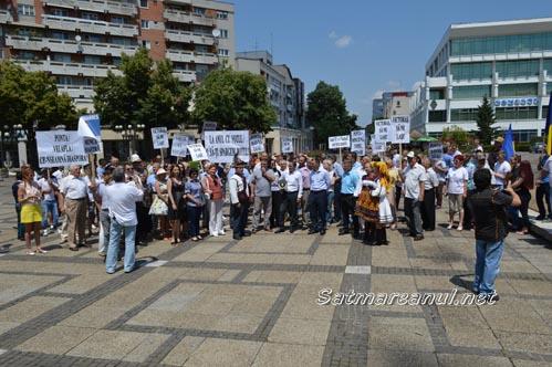 Miting PNL la Satu Mare, împotriva Guvernului Ponta (Foto)