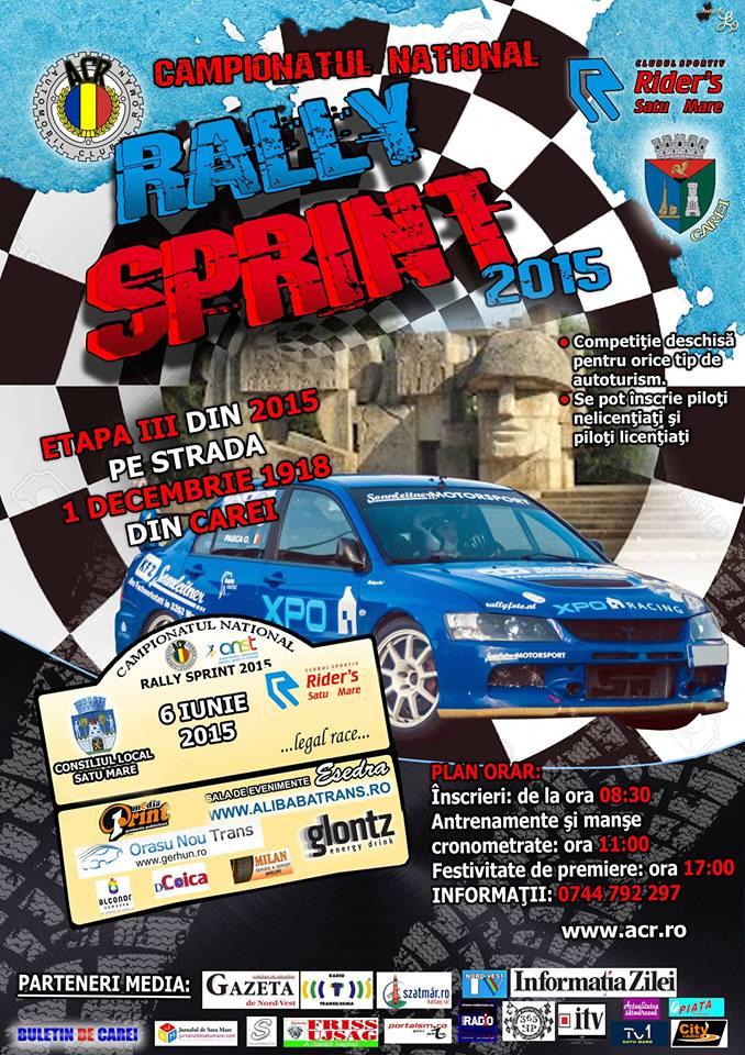 """Carei: Etapa a III-a a Campionatului Național de """"Rally Sprint"""" 2015"""