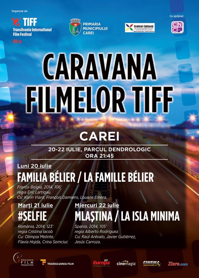 Caravana TIFF ajunge la Carei: trei seri de filme în aer liber