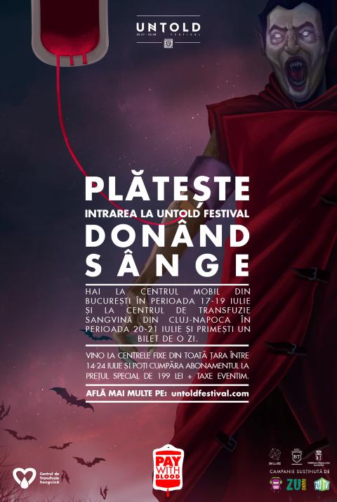 UNTOLD – Primul festival la care biletul se plătește donând sânge