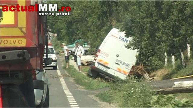 Accident cu doi răniți pe Drumul Național Satu Mare-Baia Mare (Foto&Video)