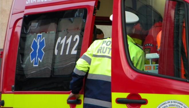 A adormit la volan: Accident cu doi răniți în localitatea Ghenci