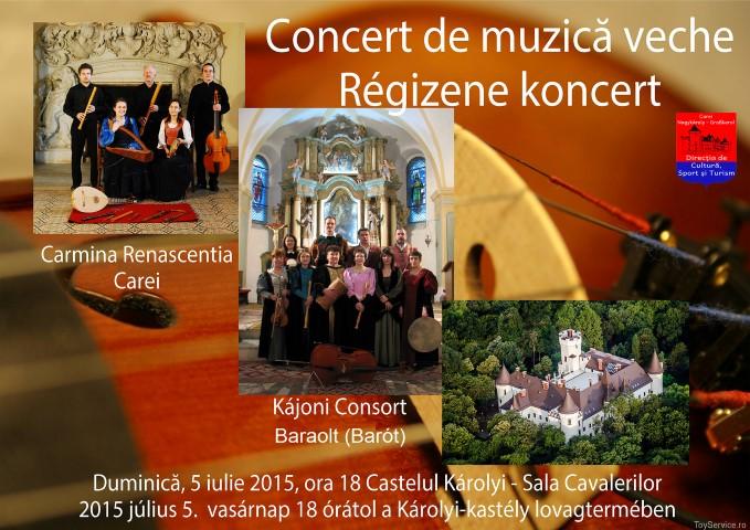 Concert de muzică veche la Castelul din Carei