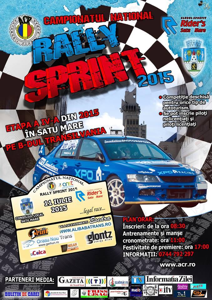 """Satu Mare: Campionatul Național de """"Rally Sprint"""" 2015, etapa a IV-a"""