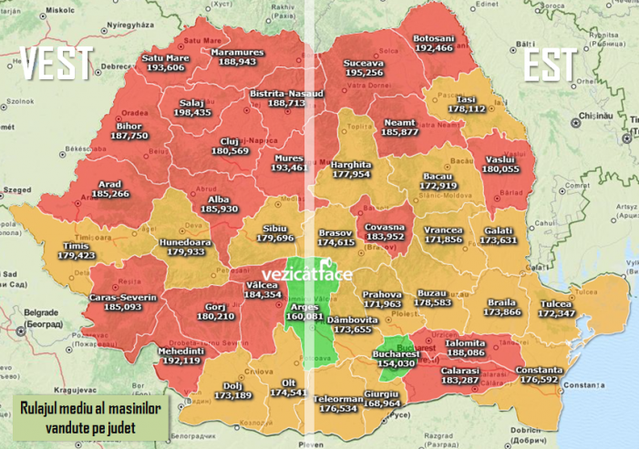 """Satu Mare, în TOP-ul județelor cu cele mai """"rulate"""" mașini din România"""