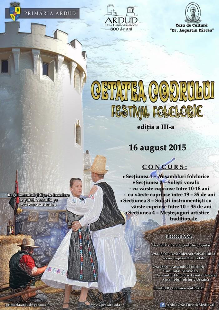 """Festivalul folcloric """"Cetatea Codrului"""", la a III-a ediție"""