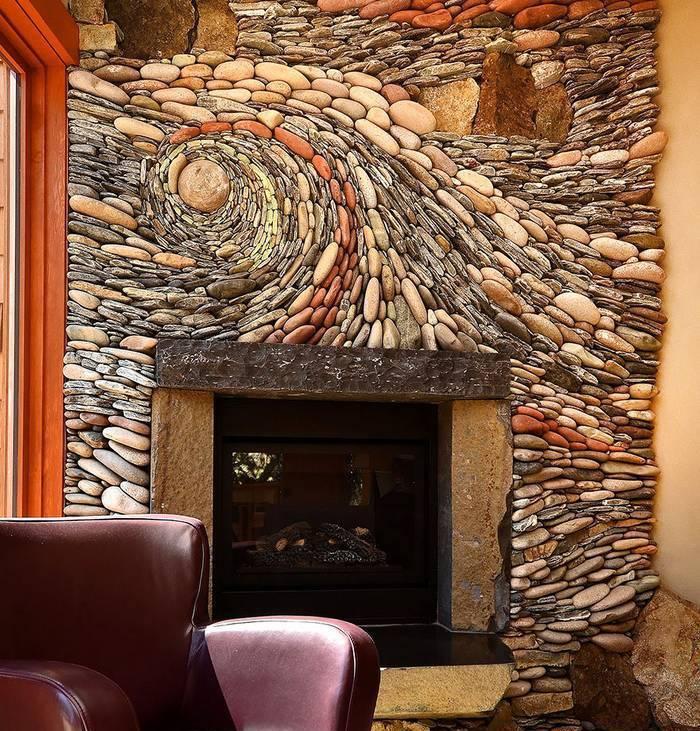 Decorațiuni din piatră pentru pereți (Foto)