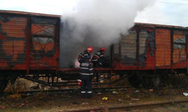 Incendiu în Gara Satu Mare Sud