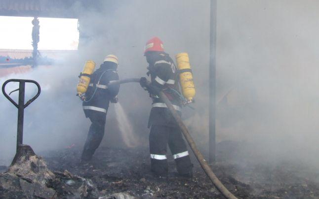 Bărbat ucis de flăcări în localitatea Băbești
