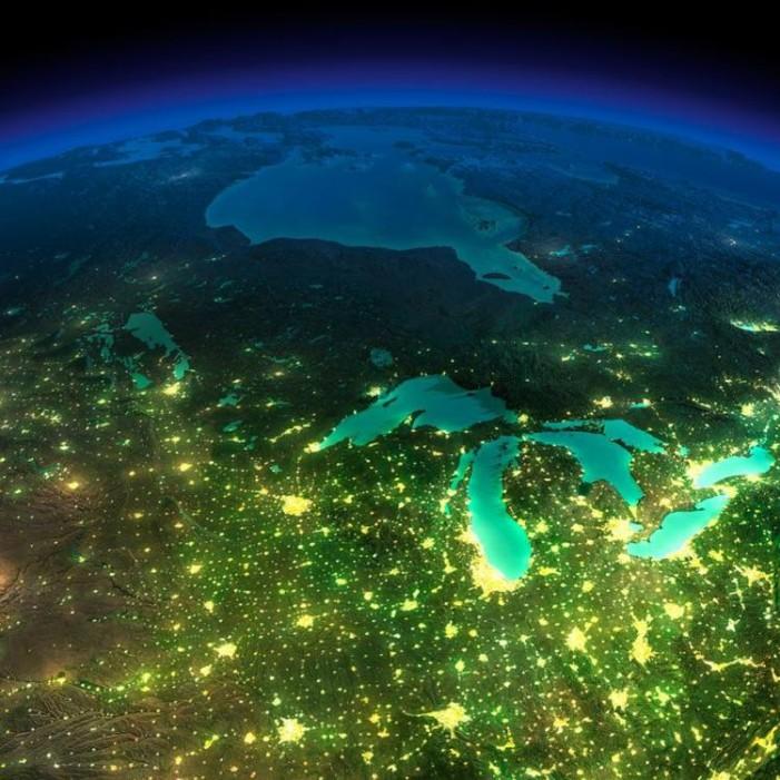Pământul văzut din spațiu noaptea (Galerie foto)