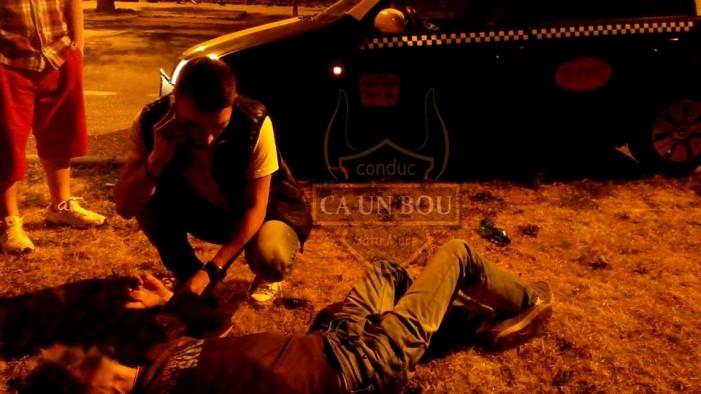 Taximetrist atacat în centrul municipiului Satu Mare (Foto)