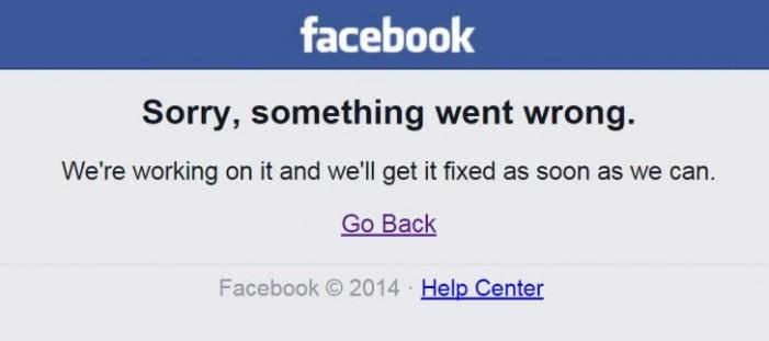 Probleme cu Facebook-ul. Rețeaua nu poate fi accesată