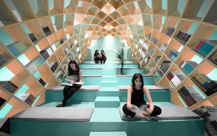 """Bibliotecă """"ruptă"""" dintr-un tablou al lui Dali (Foto)"""