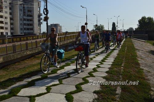 Marș ciclist între Satu Mare și Csenger (Foto)