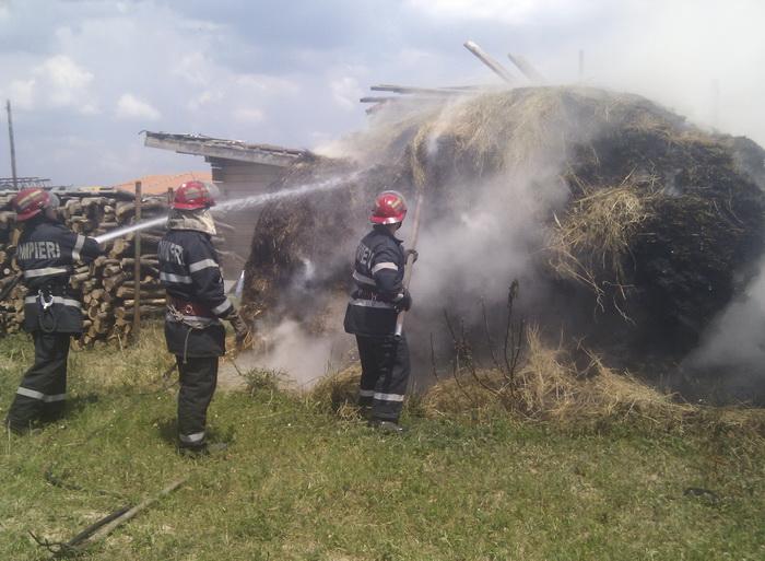 Incendiu în Babța