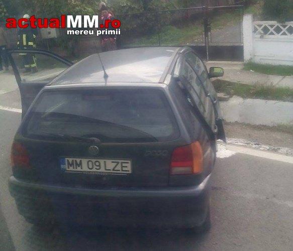 Accident cu o persoană încarcerată pe DN 1C Baia Mare-Satu Mare