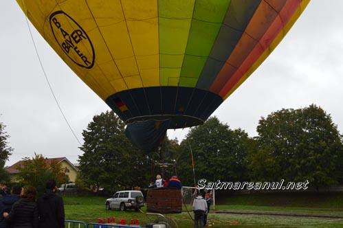 Zbor cu balonul cu aer cald, azi, la Satu Mare (Galerie foto & video)
