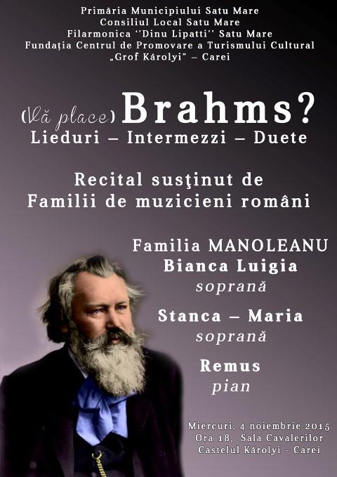 """""""(Vă place) Brahms ?"""" la Castelul din Carei"""