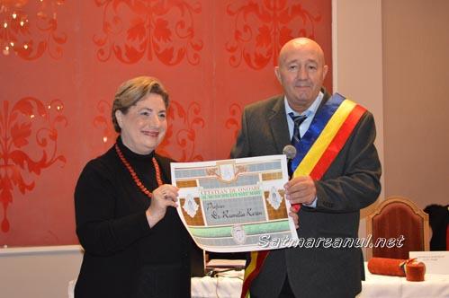 Prof. univ. dr. Rumelia Koren, Cetățean de Onoare al municipiului Satu Mare