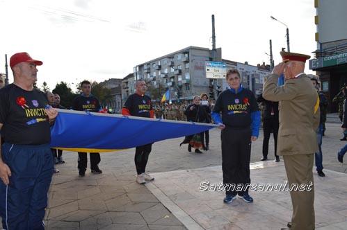 """""""Ștafeta Veteranilor"""" a ajuns în municipiul Satu Mare (Galerie foto&video)"""