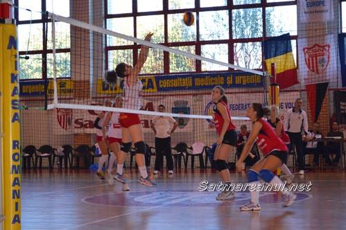 Volei: CSM Satu Mare-Agroland Timișoara 3-2 (Galerie foto&Video)