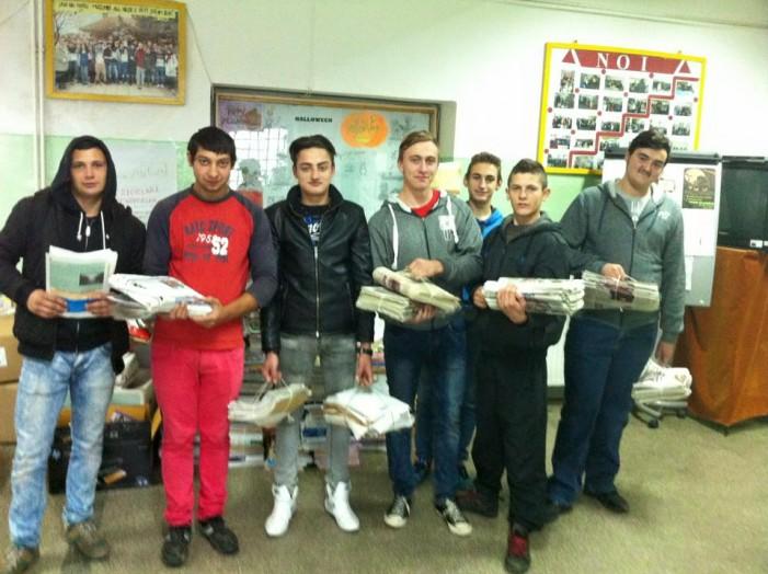 560 kg de hârtie predată pentru reciclare