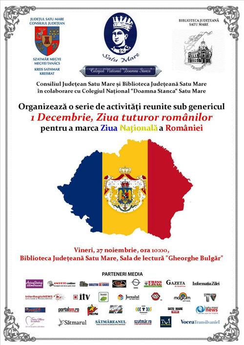 Ziua Națională a României, sărbătorită la Biblioteca Județeană Satu Mare