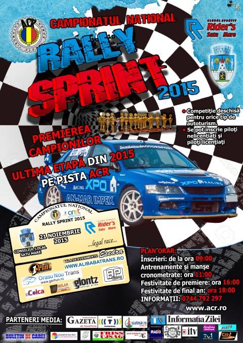"""Campionatul Național de """"Rally Sprint"""" 2015, a ajuns la ultima etapă"""