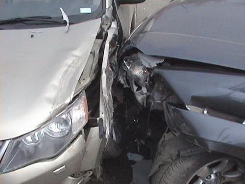 Accident în lanț cu o persoană rănită, în apropierea localității Ghenci