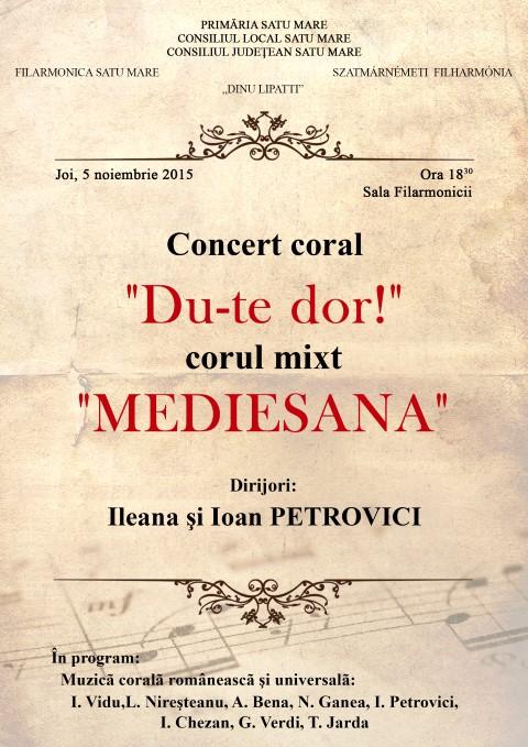 """Concert coral la Filarmonica """"Dinu Lipatti"""""""