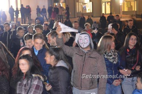Protestul de la Satu Mare în câteva secvențe video (04.10.2015)