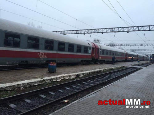 Băimărean blocat în toaleta trenului Satu Mare-București