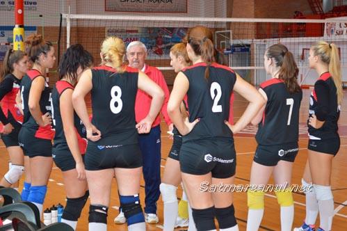 Volei: CSU Oradea-CSM Satu Mare 2-3