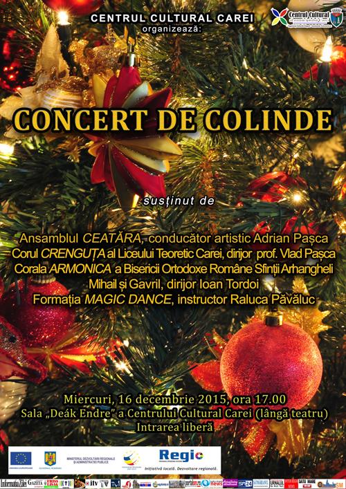 Concert de colinde la Centrul Cultural din Carei