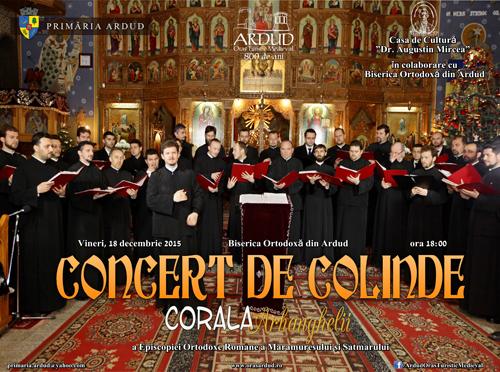 """Concert de colinde cu corala """"Arhanghelii"""" la Biserica Ortodoxă din Ardud"""