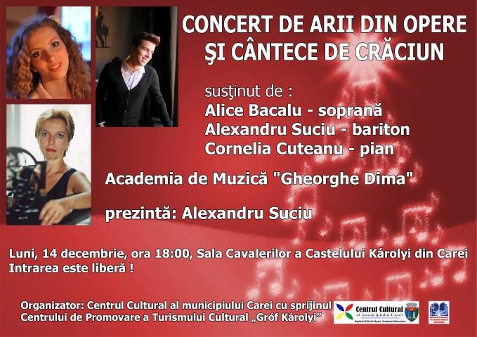 Concert de operă și cântece de Crăciun la Castelul Karolyi