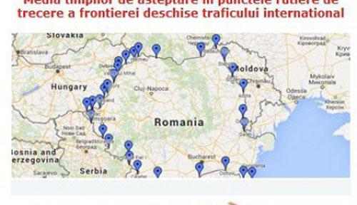 Aplicație online privind timpii de așteptare în punctele de trecere a frontierei