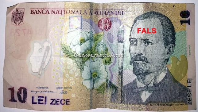 Bancnote de 10 lei false şi la Satu Mare. Vezi cum le recunoşti