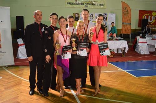 """Patru medalii pentru """"Royal Dance Club"""" Satu Mare, la """"Napoca Dance Festival"""""""