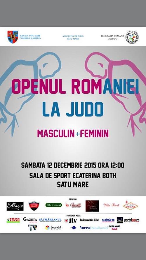 """Open-ul României la Judo, sâmbătă, în Sala """"Ecaterina Both"""""""