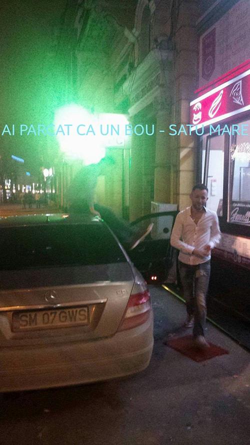 Și-au parcat mașina pe trotuar și au făcut pe nebunii (Foto)