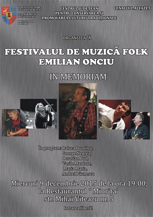 """Festivalul de muzică folk """"Emilian Onciu"""""""