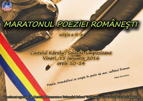 """""""Maratonul poeziei românești"""" la Castelul din Carei"""