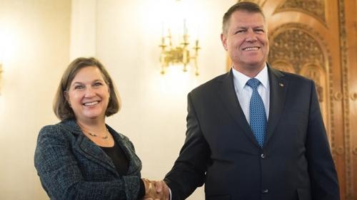 Președintele Klaus Iohannis s-a întâlnit cu Victoria Nuland la Cotroceni