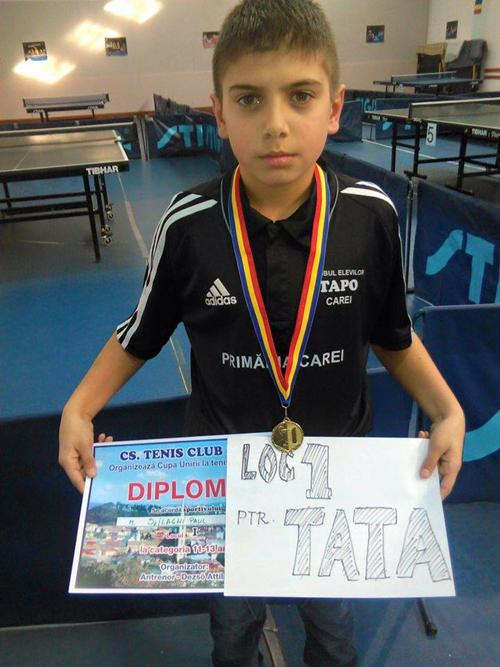 Tenis de masă: Paul Szilagyi, locul I la Cupa Unirii