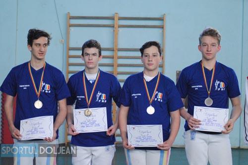 Echipa CS Satu Mare, locul I la Campionatul Național de spadă juniori
