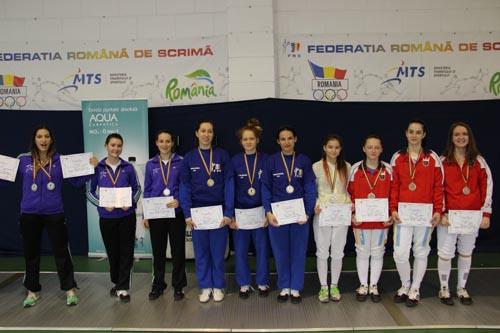 Medalie de bronz pentru floretistele de la CS Satu Mare