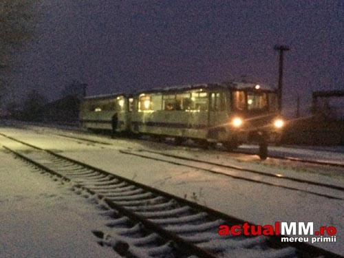 Trenul Baia Mare-Satu Mare a paralizat în Gara Seini (Foto)